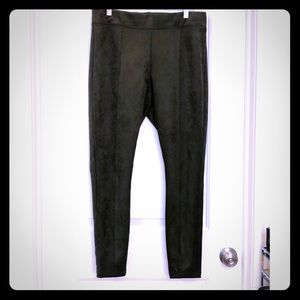 Old Navy Stevie Forest Green Sueded Leggings